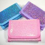 Trifold Girls Bling Glitter Wallets .65 ea