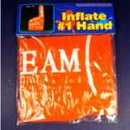 "18"" Inflateable Go Team Hand  Orange 12 per pack  .40 ea"