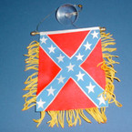 "4"" X 6"" Rebel Car  Banner Flag 12 per pk .50 ea"