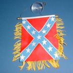 "4"" X 6"" Rebel Car  Banner Flag 12 per pk .50 ea"