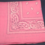 Bandana Lite Pink DBL Side Printed 100% Cotton .50 ea