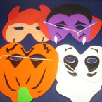Kid's Foam Halloween Masks Asst Styles ON SALE .15 ea