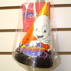"8 Ct Casper Halloween Party Hats  """"BLOW OUT  .10"