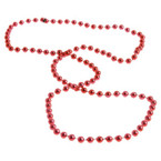"33"" 5MM Beaded Necklace All Red 12 per pack .15 ea"
