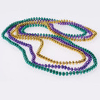 "33"" Mardi Gras Bead Necklace Asst Color 12 per pack .15 ea"