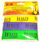 3 Pack Silicone Bracelet Jesus is Awesome 24 sets per pk