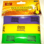 Wide Silicone Bracelet  Jesus is the Light  72 pcs per pk .16 each