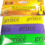 3 Pack Silicone Bracelet Saved By Grace 24 sets per pk
