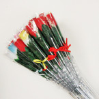 "15"" Scented Rose 36pc w/ Vase Asst Colors .35 ea"