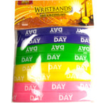 8 Pack Have a Blessed Day Wristbands 24-8 pks per pk