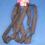 3 Pack Stretch Lace Headwraps All Brown .25 ea set