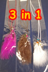 3 in 1 Feather Necklace.Headwrap,Belt Asst Colors (7751) ON SALE