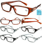 Ladies Fashion Reading Glasses w/ Wild Cat on Sides