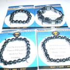 Hematite Magnetic Healing Bracelet 36 Pk .85 ea