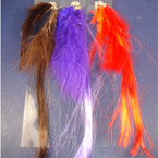 "Silver Snap Clip w/ 8"" Colorful Feather Hair Extension .40 ea"