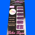 Trendy Nail Strips Hot Pink Glitter Zebra Prints ON SALE