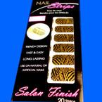 Trendy Nail Strips Gold Zebra Print ON SALE