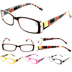 Ladies Fashion Reading Glasses Side Print Asst Colors .83 ea