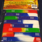 8 Pack Multi Color Jesus is the Light Wristbands 24-8 pks per pk