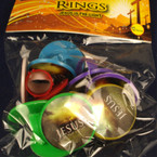 12 Pack Jesus is the Light Plastic Rings 24- 12 pks per pk .33 ea pk