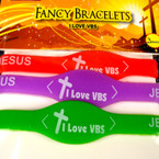 I Love VBS Silicone Bracelet 72 pcs per package .16 each