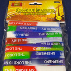 8 Pack The Lord is My Shepherd Wristbands 24-8 pksd per package .50 per pk