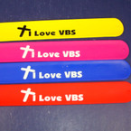 "9"" Silicone Slap Bracelet I Love VBS 24 per pack  .50 ea"