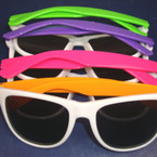 Wayfare Look Fashion Sunglasses White w/ Neon Arms $1.12 ea