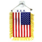 USA Window Banner w/Tassel Flag Sold by 12 pcs .54 each