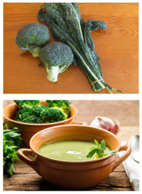 Cream of Kale & Broccoli Soup