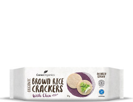 Brown Rice Crackers (With Chia)