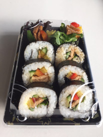 Mixed vegetable & tofu sushi pack