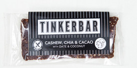 Organic Tinkerbar Cashew, Chia & Cacao with Date and Coconut