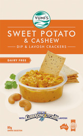 Yumi's Sweet Potato & Cashew Dip & Lavosh Crackers