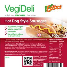 V-bites jumbo vegan hotdogs