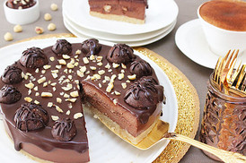 Raw Ferrero Cheesecake- whole cake