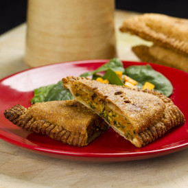 Pumpkin, Spinach & Tofu Triangle