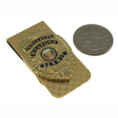 CWP Concealed Weapons Permit Money Clip Gold