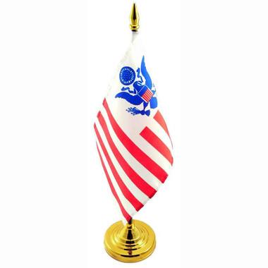 U S Customs Miniature Desk Flag