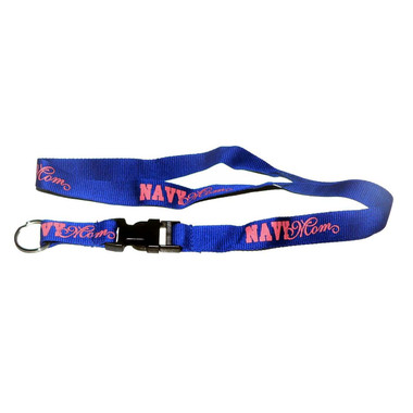US Navy Mom Lanyard Key Ring Neck Strap