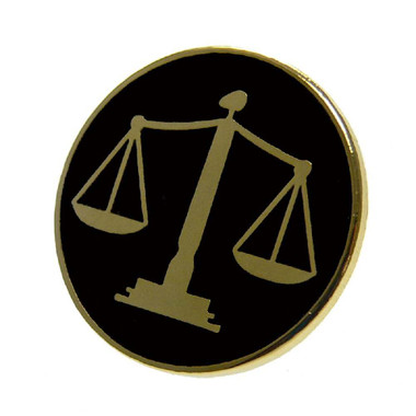 Scales of Justice Lapel Pin