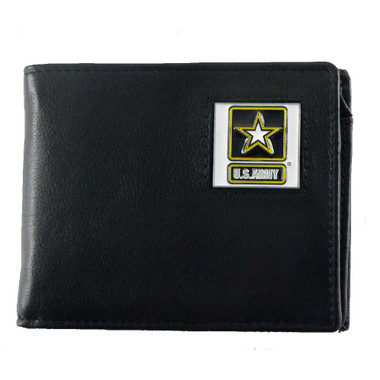 US Army Bifold Leather Wallet with Go Army Emblem
