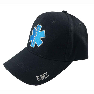 Navy Blue Star of Life Low Profile Baseball Cap
