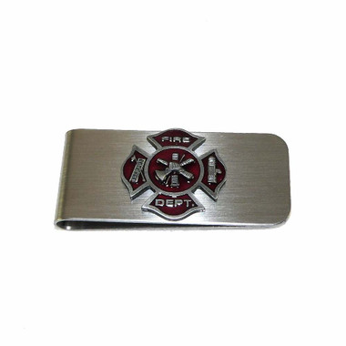 Fire Department Stainless Steel Money Clip