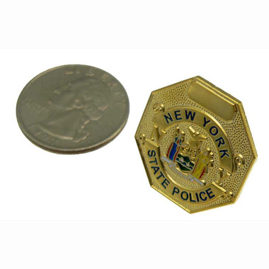 NYSP New York State Police Mini Badge Lapel Pin Gold