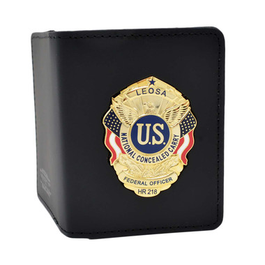 Perfect Fit LEOSA Badge Leather Double ID Case