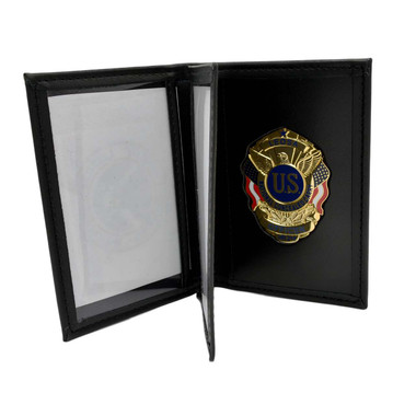 Perfect Fit LEOSA Badge Leather Double ID Case Inside Mount