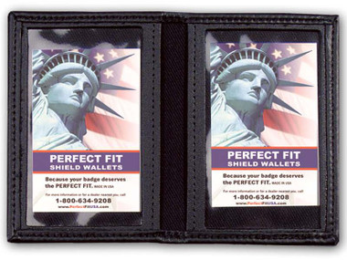 FBI or DEA Double ID Leather Credential Case
