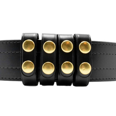 """Perfect Fit Duty Belt Keepers 3/4"""" Plain Genuine Leather brass snaps"""