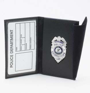D&K Leather Recessed Badge & ID Case